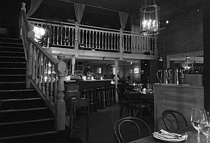 Interior of Cork & Fin Restaurant